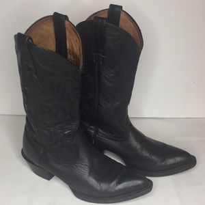 Ariat Embroidery Cowboy Boots Black Size 8.5D